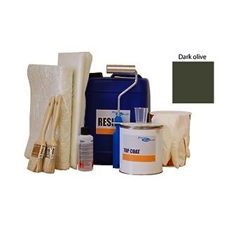 2sqm fibreglass / grp pond kit - olive topcoat, lloyds resin, fibreglass matting & tools 2sqm Fibreglass / GRP pond kit – Olive Topcoat, Lloyds resin, Fibreglass matting & Tools 41mNYqUpqKL