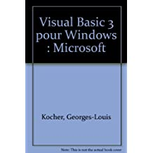 Visual Basic 3 pour Windows : Microsoft