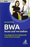 BWA lesen und verstehen: Grundlage für eine erfolgreiche Unternehmensanalyse - Carola Rinker