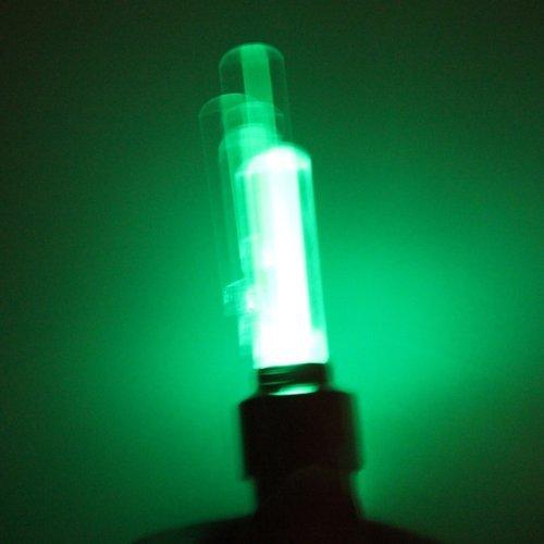 Green LED-Felgendicht Ventilkappen, Auto Fahrrad, Motorrad, 4 Stück - 5