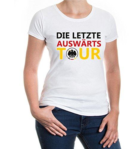 buXsbaum® Girlie T-Shirt Die letzte Auswärtstour White-z-direct