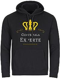 Sudadera con capucha-camiseta de manga larga para hombre colour negro Guatemala experto tallas de