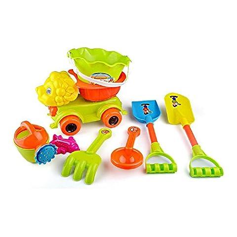 LD@8 Stück Set Kinder Strand Spielzeug Schaufeln Großes Baby Spiel mit Sand Schaufel Sand Wasser (Velvet Ballon-)