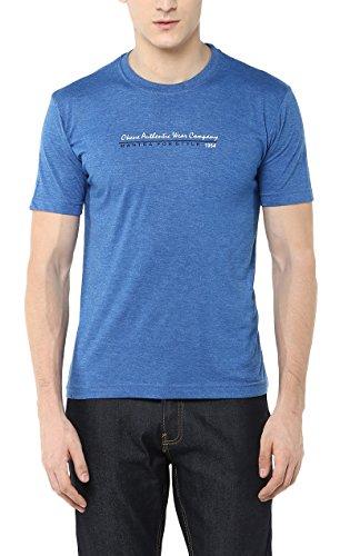 OKANE Men's Cotton T-Shirt (TS-90104 BLUE L, Blue, L)