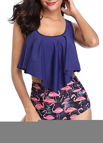 Missoul Damen Bikinihose Badeshorts Wassersport Minimizer Bikini Hose High Waist Bikini Slip