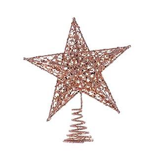 Amosfun-Glitzernde-Weihnachtsbaumspitze-Stern-Baumspitze-fr-Weihnachtsbaum-Dekoration-oder-Heimdekor-Rosa-20-cm