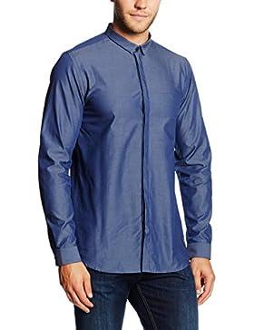 JACK & JONES Jcodobby Shirt Plain L/S, Camisa para Hombre