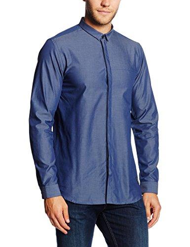 Jack & Jones Jcodobby Shirt Plain L/s, Chemisier Business Homme Bleu - Blau (Navy Blazer Detail:SLIM FIT)