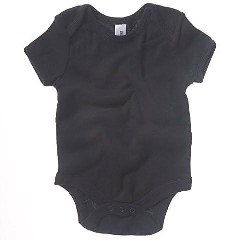 Bella Canvas Baby Rib Short Sleeve One Piece Black 12-18