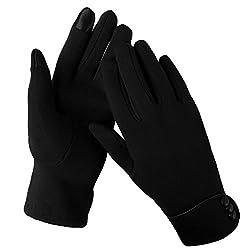 Aibrou Touchscreen Handschuhe Damen Winterhandschuhe Fahrradschuhe Frauen Handschuhe Winter Warm Handschuhe mit Fleecefutter Schwarz