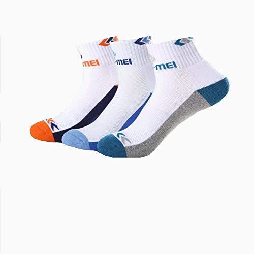 MingYu Badminton-Socken 3 Paar Original Rutschfest, Deo, schweiß, Antibakteriell, Atmungsaktiv,Herren und DamenLaufsport-Sportsocken