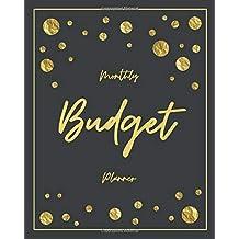 Monthly Budget Planner: Gold Glitter 12 Month Weekly Expense Tracker Bill Organizer Business Money Personal Finance Journal Planning Workbook