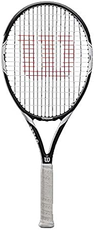 Wilson Unisex Adult 2-WRT30730U3 Federer Team 105 Tennis Racket Without Cover - Black/White, Grip 3