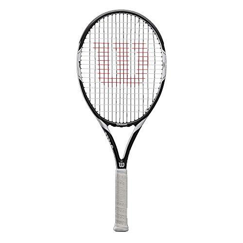 Wilson Federer Team 105, Racchetta da Tennis per Giocatori Principianti e Amatoriali Unisex Adulto, Bianco/Nero, L4