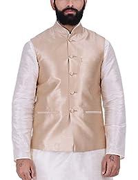 Kisah Gold Jaquard Men's Waistcoat