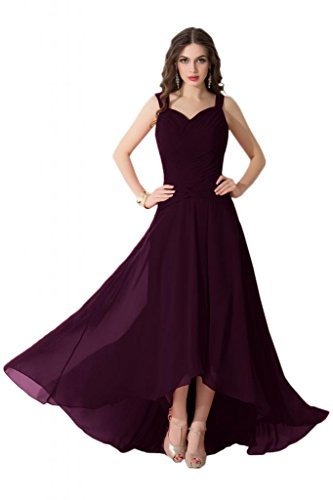 Sunvary alta, bassa, in Chiffon, da donna, per abiti da sera o da cerimonia, con diamanti Grape