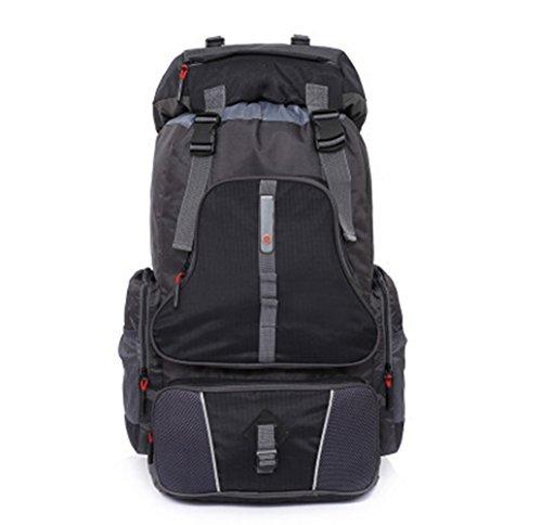 augustsport großes Fassungsvermögen Bergsteigen backpack-60l, Unisex, schwarz