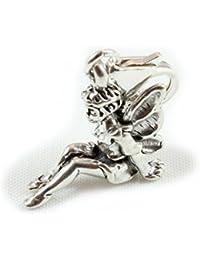 Broche de plata de ley diseño de hada con carcasa rígida para pulsera - con 11 mm cierre
