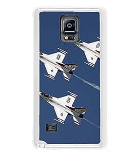 PrintVisa Designer Back Case Cover for Samsung Galaxy Note 4 :: Samsung Galaxy Note 4 N910G :: Samsung Galaxy Note 4 N910F N910K/N910L/N910S N910C N910Fd N910Fq N910H N910G N910U N910W8 (USAF Thunderbirds Fighter Jets Sky)