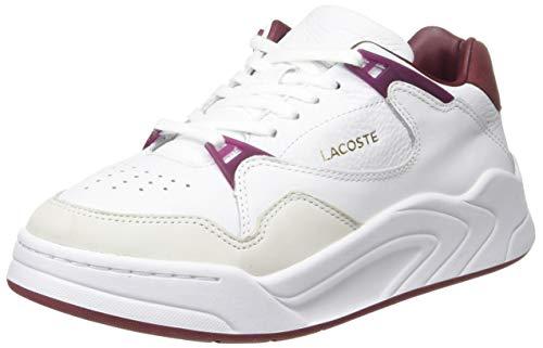 Lacoste Court Slam 319 1 SFA, Sneaker Donna, Bianco (Wht/Dk Red 1y8), 36 EU