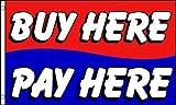 AZ FLAG Flagge Hier KAUFEN Hier BEZAHLEN 150x90cm - Buy HERE Pay HERE Fahne 90 x 150 cm - Flaggen Top Qualität