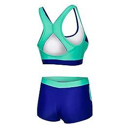 Aqua Speed® Fiona Tankini | Tessuto Vita | Resistente al Cloro/Crema Solare/Olio, Taglia:36, Colore:Farbe 42 / Türkis – Navy