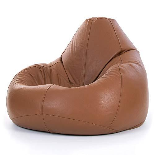 Bean Bag Bazaar Luxus Icon Designer Gaming Liege Sitzsack, leather-p, Leder, hautfarben, 60x60x90 cm
