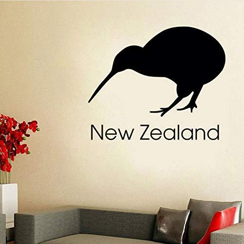 Gwgdjk Neuseeland Kiwi Wandaufkleber Büro Wanddekor Vinyl Abnehmbare Selbstklebende Vogel Wandbild Diy Dekoration