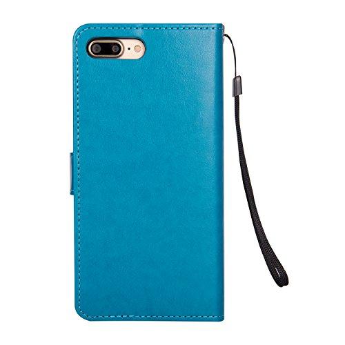 Custodia-per-Apple-iPhone-8-7-Pelle-Morbida-Libro-Copertura-Girlyard-Flip-Wallet-Cover-Porta-Carte-Portafoglio-Chiusura-Magnetica-con-Cordino-Supporto-Stand-Protettiva-Caso-Case-Brillantini-Brillante-