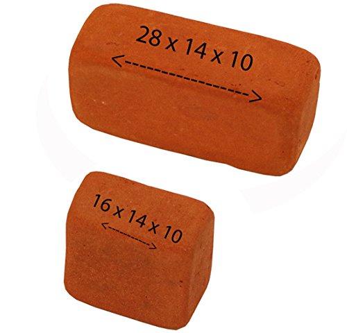 Backsteine mix 28x14x10mm - 16x14x10 für SteinBaukasten ,500 GR - Ziegelrot