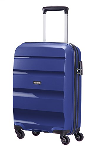 American Tourister Bon Air - Spinner, 55 cm, 31.5 liters, Bagage Cabine, Bleu (Midnight Navy)