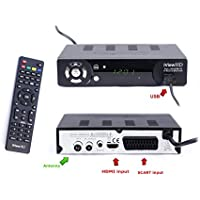 UK FULL HD 1080P Freeview HD Receiver & HD USB Recorder DIGITAL TV Set Top Box HD Digibox Terrestrial Tuner SCART + HDMI Out DVBT-T2 Analogue to Digital Television Converter