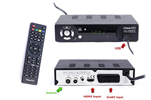 41mNjkOEXFL - UK Freeview HD + WiFi Ready Set Top Digi Box Digital TV Receiver & HD 1080P USB Recorder. FULL HD DVB-T2.Terrestrial…