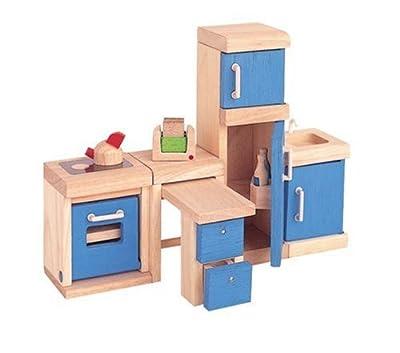 PlanToys 73101 PlanDollhouse - Cocina de madera para casa de muñecas [importado de Alemania] por Plan Toys