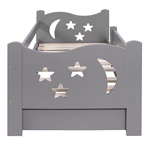KAGU Chrisi Kinderbett Jugendbett Juniorbett Bett (140x70 cm oder 160x80 cm). Kiefernholz Massivholz inkl. Matratze und Schublade. - 4