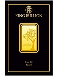 KING BULLION 20 gm, 24KT (999) Yellow Gold Bar