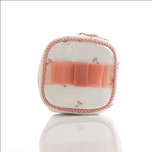 Schmuckschatulle Für Mädchen, Süß Mini Kirsche Erdbeere Schmuckkästchen Reise Tragbar Schmuck Aufbewahrungsring Halskette Tasche (Color : Red) -
