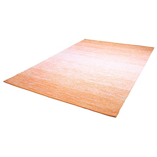 The Rug Republic Teppich Delight Farbe Weiß/Orange 160x230 Baumwolle Handgewebt Soft Touch - Hand Getuftet Teppiche