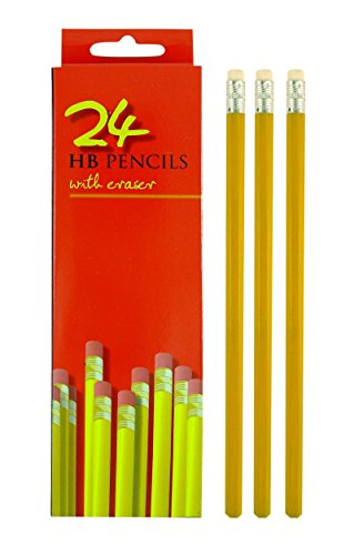 Henbrant - Matite HB con gomma, confezione da (Eraser Di Matita)