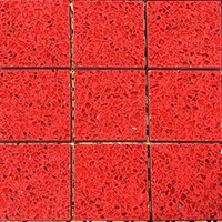 Ruby Red Quartz Mosaic Tiles (qzm-r-red)