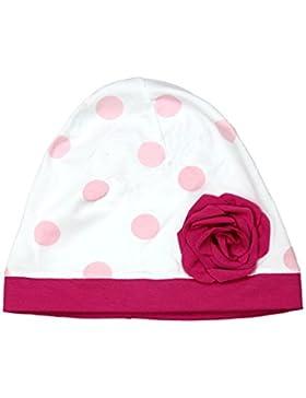 TupTam Baby Mädchen Beanie Mütze mit Blume Tupfen-Design