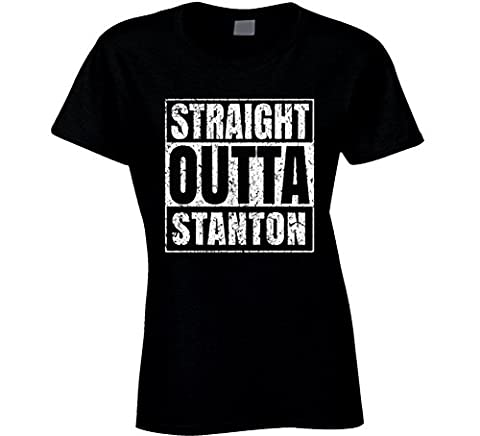 Straight Outta Stanton City Grunge Worn Look Cool T Shirt
