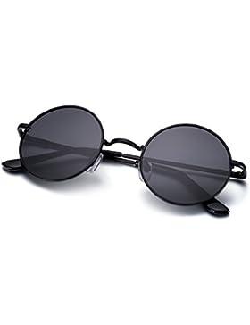 Menton Ezil John Lennon Pegueño Redondas Gafas de Sol Retro Vintage Estilo Hippy con Círculos Polarizados Lentes...