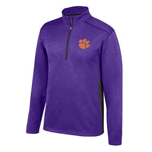 eLITe Top of The World NCAA Men's LSU Tigers Poly Cross Dye Next Calibur Half Zip Purple X Large Fleece-screen Print Pullover