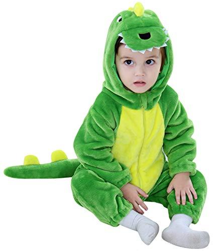 Kostüm Niedliche Zwillinge Für - Katara 1778 Dino-Saurier Baby-Kostüm Karneval, kuscheliger Jumpsuit, verschiedene Tiere & Größen, Pyjama-Qualität, grün