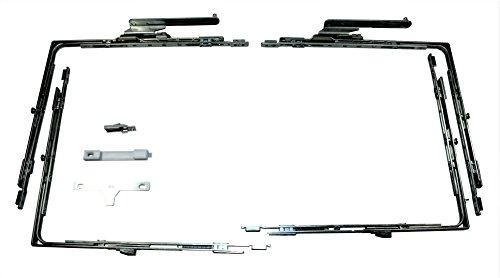 GU Schiebetür Beschlags Set 966 PSK 9mm Nutlage DIN Rechts (2x Eckumlenkung, 2x Schere 38741 RS, 1x Kupplung 9 30111,1x Fehlbedienungssicherung)
