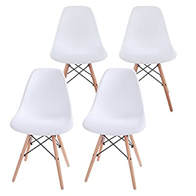 VECELO Retro Dining Chair, DSW Eiffel Style / Office Relax / Outdoor Lounge / Chair - [Set of 12] produced by AHOC - quick delivery from UK.