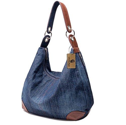 Ichic Boutique(TM)Damen Handtasche Jeans Schultertasche Umhängetasche (Jeans-handtasche)