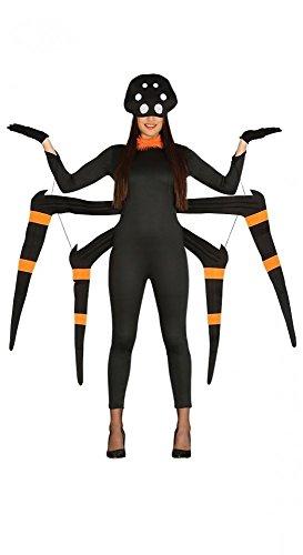 el Halloween Spinne Spider Gr. 36-40 (Damen Kostüm Spider)