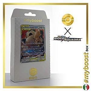 Eevee e Snorlax-GX (Eevee y Snorlax-GX) 120/181 - #myboost X Sole E Luna 9 Gioco di Squadra - Box de 10 Cartas Pokémon Italiano